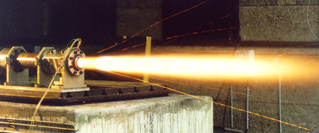 Essai propulsion solide (LP9 échelle 1/35ème)