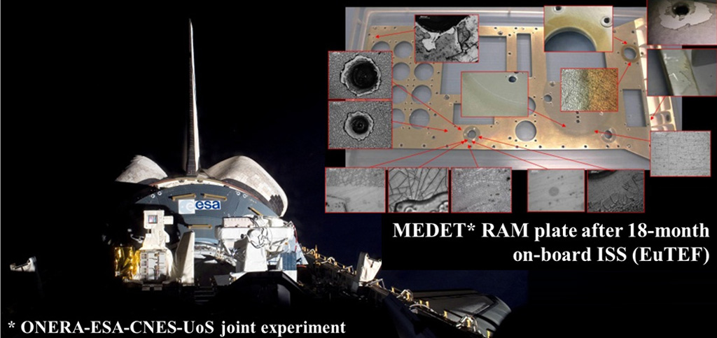 Active MEDET experiment on materials exposure on the International Space Station