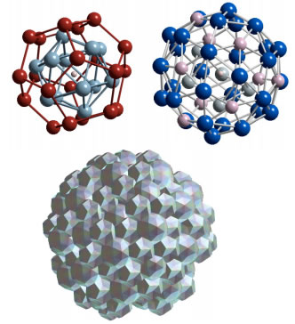Atomic configurations observed in AlPdMn and AlCuFe quasicrystal alloy structures