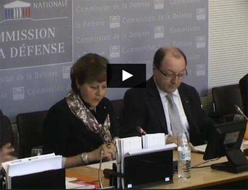 Bruno sainjon, Patricia Adam, commission défense nationale