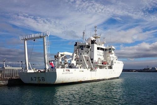 Le Beautemps-Beaupré, navire hydo-océanique du SHOM