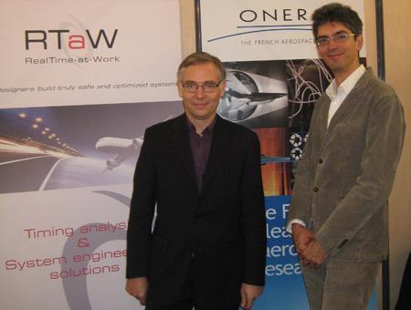 Jörn Migge, CTO de RTaW et Marc Boyer, ingénieur ONERA