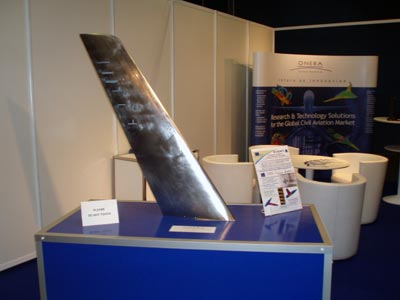 Maquette AVERT (Aerodynamic Validation of Emission Reducing Technologies) exposée sur le stand Onera