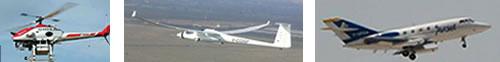 Trois moyens Onera associés à LIMA : le drone Ressac, le motoplaneur Busard, Sethi