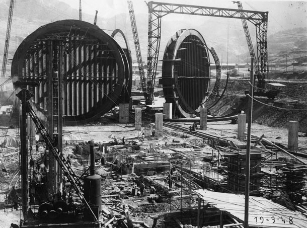 1948: The S1MA wind tunnel under construction
