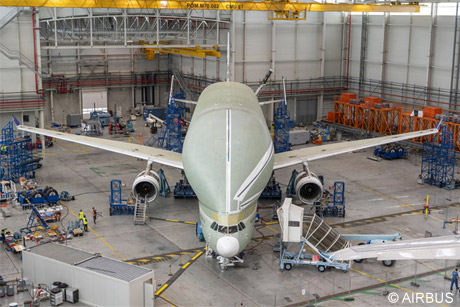 ONERA and DLR perform Beluga XL ground vibration testing