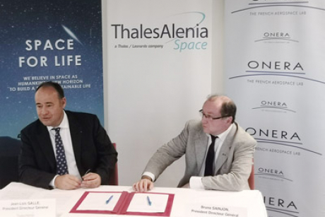 Thales Alenia Space and French aerospace research center ONERA sign cooperation agreement