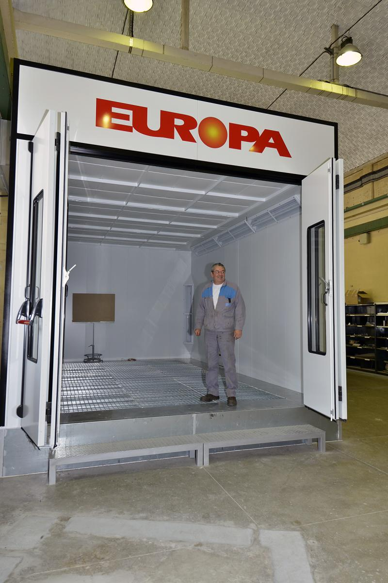 PSP - spraybooth for large model - Modane
